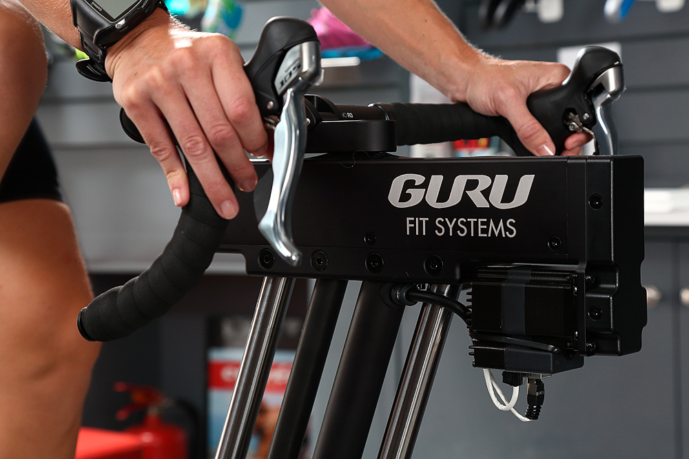 Bike Fitting aboard our GURU machine