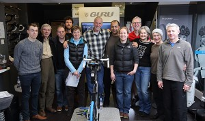 The students with Dan Empfield on the first F.I.S.T. bike fitting course outside the USA. Held here at Ten-Point in Buckinghamshire